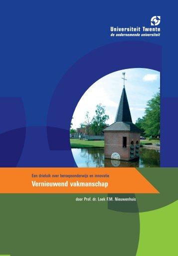 Vernieuwend vakmanschap - Universiteit Twente