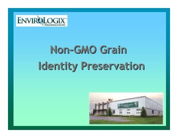 Non-GMO Grain Identity Preservation (English) - EnviroLogix