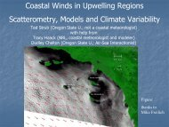Coastal Winds in Upwelling Regions Scatterometry, Models and ...