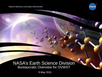 Earth Science Division Status and Plans - Center for Ocean ...