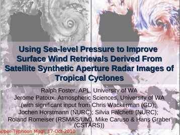 Using Sea-level Pressure to Improve Surface Wind Retrievals ...