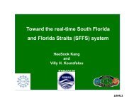 Toward the real-time South Florida and Florida Straits (SFFS) system