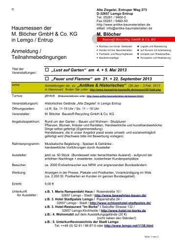 """""""Lust auf Garten"""" am 4. + 5. Mai 2013 - M. Blöcher Baustoff ..."""