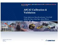ASCAT Calibration & Validation