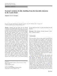 Seasonal variation of eddy shedding from the Kuroshio intrusion in ...
