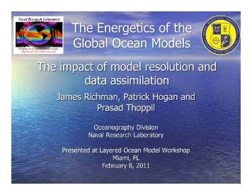 the energetics of the global ocean