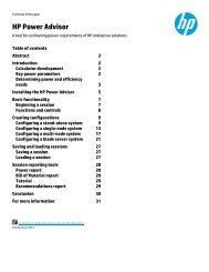 HP Power Advisor Utility: A Tool For Estimating - Business Support ...