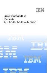Användarhandbok NetVista typ 6644, 6645 och 6646 - Ibm