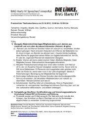 Protokoll der Telefonkonferenz am 23 - Die Linke