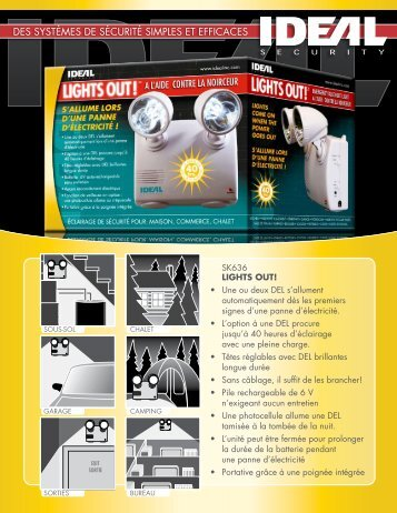 Brochure LIGHTS OUT - Ideal Security Inc.