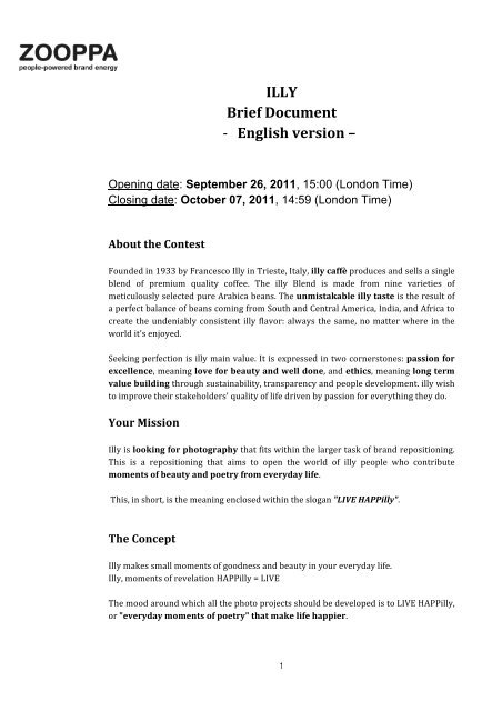 ILLY Brief Document -‐ English version –
