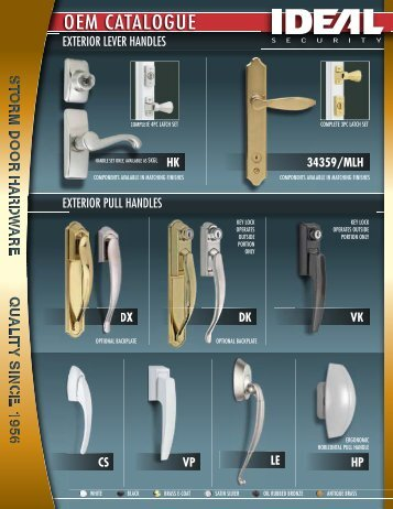 OEM CATALOGUE - Ideal Security Inc.