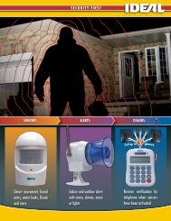 to view Ideal Security's Home Security Items Brochure