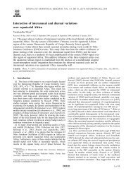 Interaction of interannual and diurnal variations over equatorial Africa