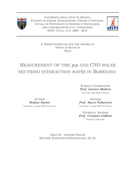 Measurement of the pep and CNO solar neutrino ... - Borexino - Infn