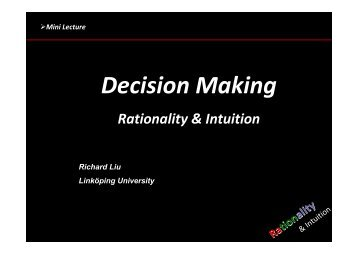 Decision Making - MBA7