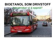 Bioetanol som drivstoff ved Trond Helge Henriksen - Ansatte