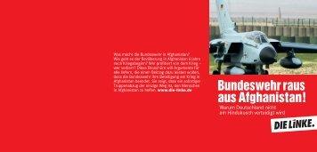 Bundeswehr raus aus Afghanistan! - DIE LINKE. Kreisverband ...