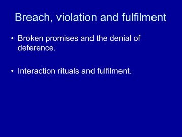 Breach, violation and fulfilment - MBA7