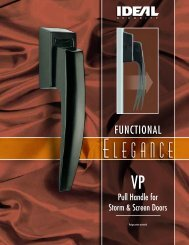 Product brochure - Ideal Security Inc.