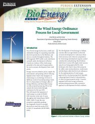 The Wind energy ordinance Process for Local Government - Purdue ...
