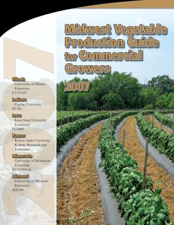 Midwest Vegetable Production Guide for Commercial Growers - 2007