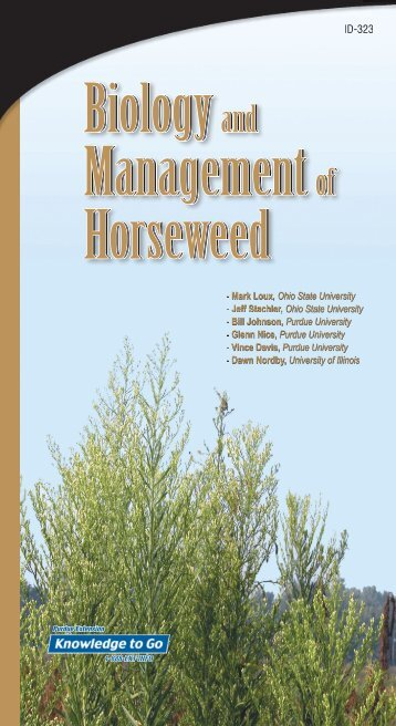 Ay HorseWeed.indd - Purdue Extension - Purdue University