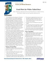 FNR-194 Food Plots for White-Tailed Deer - Purdue Extension ...