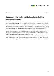 Logwin sells Swiss service provider for perishable logistics to ...