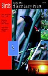 Birds of Benton County, Indiana - Purdue Extension - Purdue ...