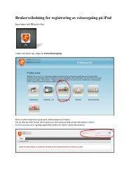 Brukerveiledning for registrering av reiseregning på iPad - Ansatte