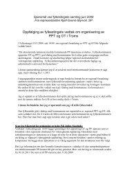 Oppfølging av fylkestingets vedtak om organisering av PPT ... - Ansatte