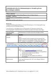 Arbeidsbeskrivelse for dokumentasjon av bevertningsutgifter - Ansatte