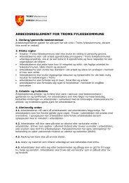 Arbeidsreglement for Troms fylkeskommune - Ansatte - Troms ...