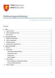 Publiseringsveiledning - Ansatte