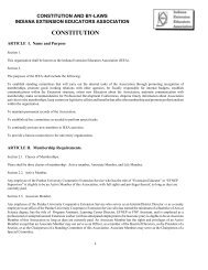 Constitution and By-Laws - Purdue Extension - Purdue University