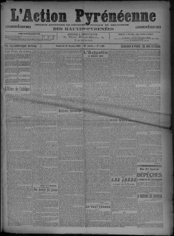 29 Octobre 1909 - Bibliothèque de Toulouse