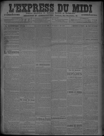16 Janvier 1907 - Bibliothèque de Toulouse