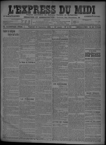 19 Septembre 1902 - Bibliothèque de Toulouse