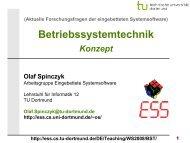Betriebssystemtechnik - TU Dortmund