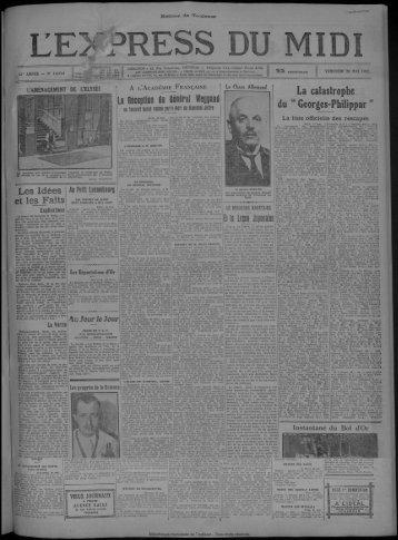 20 MAI 1932 - Bibliothèque de Toulouse