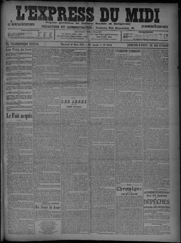 10 Mars 1909 - Bibliothèque de Toulouse
