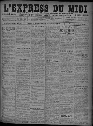 15 Janvier 1897 - Bibliothèque de Toulouse