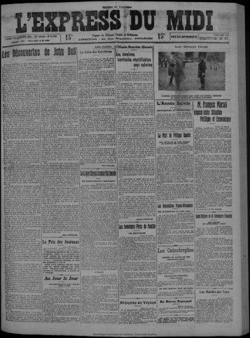 26 janvier 1925 - Bibliothèque de Toulouse