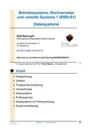 Dateisysteme - TU Dortmund