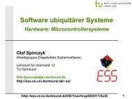 SuS-02.1: Hardware: Microcontrollersysteme - TU Dortmund