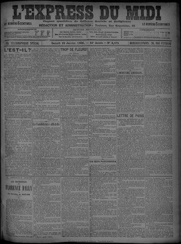 18 Janvier 1902 - Bibliothèque de Toulouse