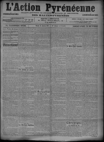 25 Janvier 1910 - Bibliothèque de Toulouse