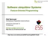 SuS-05.3: Feature-Oriented Programming - TU Dortmund