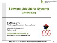 Datenhaltung - Embedded System Software Group - TU Dortmund